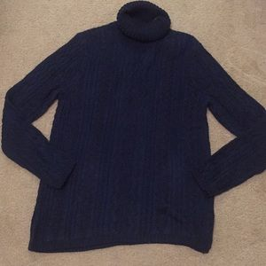 Black and blue turtle neck